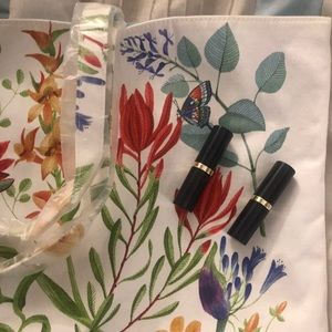 Estee Lauder tote with 2 lipsticks